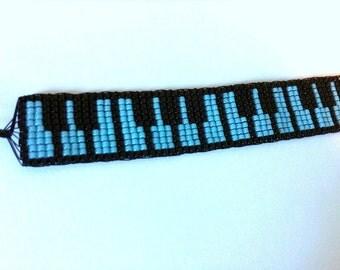BLUE PIANO Bead Woven Bracelet