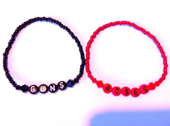 GUNS & ROSES Beaded Friendship Bracelets