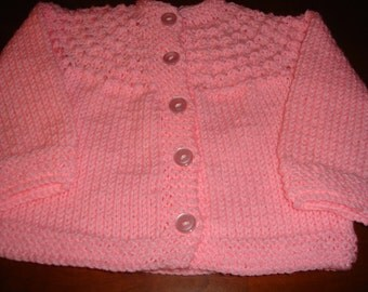 adorable pink sweater for baby girl