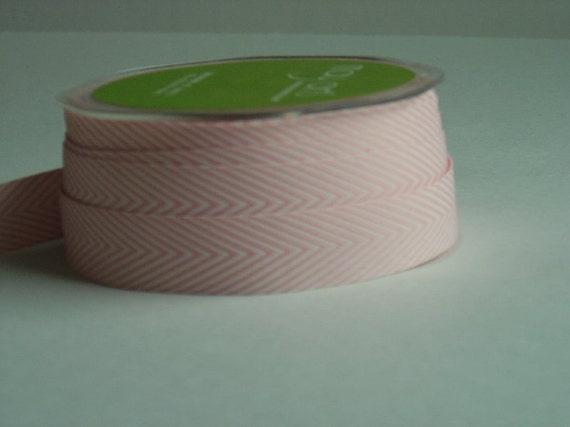 Pink Chevron Twill, 3 yds