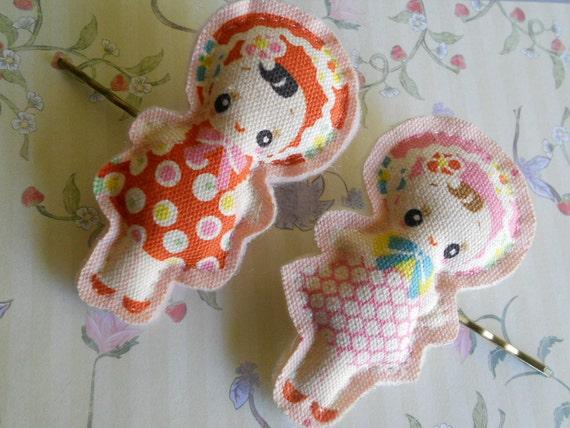 hair pin Bunka, Retro, Kewpie doll girl
