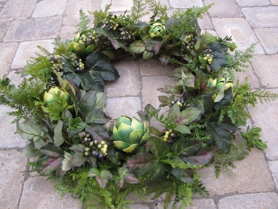 Year Round Artichoke and Berry Wreath