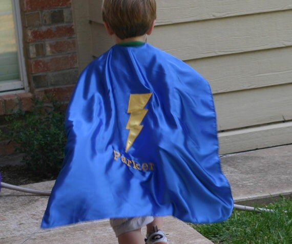 Play cape with free personalization super hero costume