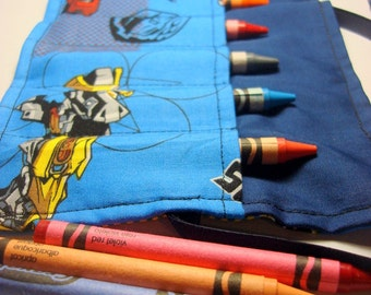 Crayon Roll Up Crayon Holder Transformer- Holds 8 Crayons
