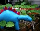 Felt Stegosaurus - sewing epattern