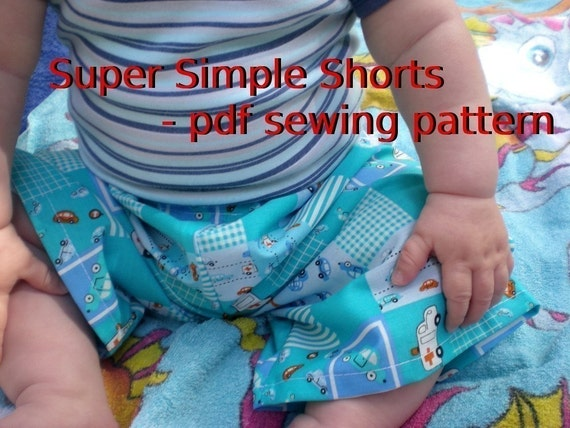 Super Simple Shorts - pdf sewing pattern