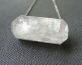 Claire - Natural Rock Crystal Swing Necklace