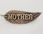 English Edwardian sterling silver mother brooch for mothers day