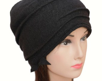 wool black hat