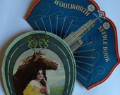 Vintage paper needle cases with great graphics and some needles