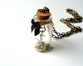 Steampunk Necklace Glass Bottle Vintage Watch Cogs & Gears Victorian Phial Gothic Steampunk Jewelry by pennyfarthingdesigns on Etsy