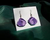 Symmetric Purple Marble Earrings