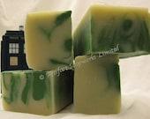 2lb Eucalyptus Thyme Swirl Olive Oil Shea Butter Soap Loaf -Vegan Friendly