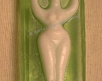 One soap bar - Goddess, Wiccan, Pagan, Nathor - Green Tea Glycerin - ONE BAR