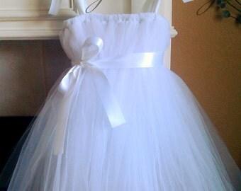 White Tutu Dress - Size 2T-4T