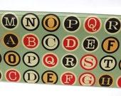 CHECKBOOK COVER - Vintage Colored Typewriter Keys