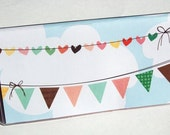 CHECKBOOK COVER - Sunny Afternoon Bunting
