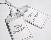 LUGGAGE TAGS (2) - You Choose (any print from my shop)