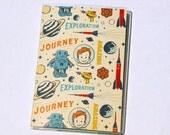 PASSPORT COVER - Rocket Boy. Passport Holder, Passport Case, Travel Wallet, Document Holder, Space Age, Travel Gift Idea, Stocking Stuffer