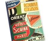 PASSPORT COVER - Vintage Travel Stickers