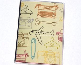 PASSPORT COVER - Airplanes, Cameras, Typewriters, Keys, etc.....