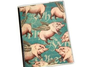 PASSPORT COVER - When Pigs Fly. Passport Holder, Passport Case, Travel Wallet, Travel Gift Idea, Graduation Gift, Stocking Stuffer, Wings