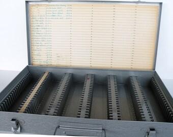 Vintage Brumberger Slide Index Case