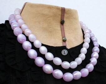 Vintage, Large Purple Beaded Necklace