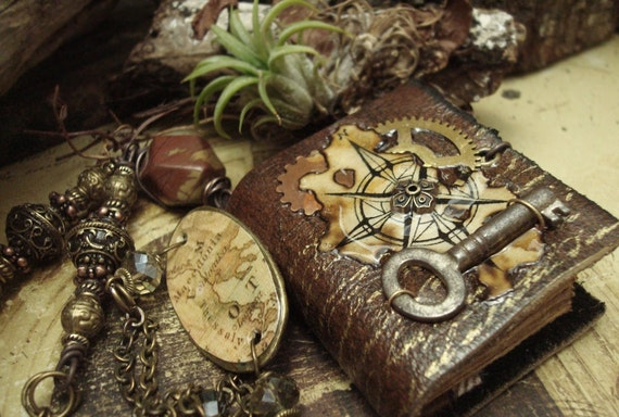 the New World - Wearable Book Necklace
