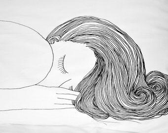 Girl Pillow Case SINGLE ITEM