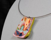 Multicolored Slice Pendant- Made Out of Paint