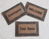 Miniature Custom Doormat With Name or Words of Your Choice One Dollhouse or Playscale