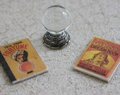 Miniature Crystal Ball With Fortune Telling Books One Twelfth Scale