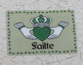 Miniature Claddaugh Failte Irish Welcome Mat for Dollhouse or Playscale