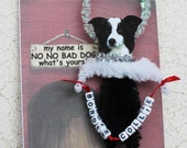 Dog Ornament Border Collie Personalized