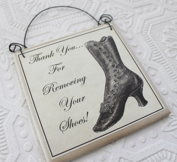 Front Door Sign Thank You For Removing Your Shoes