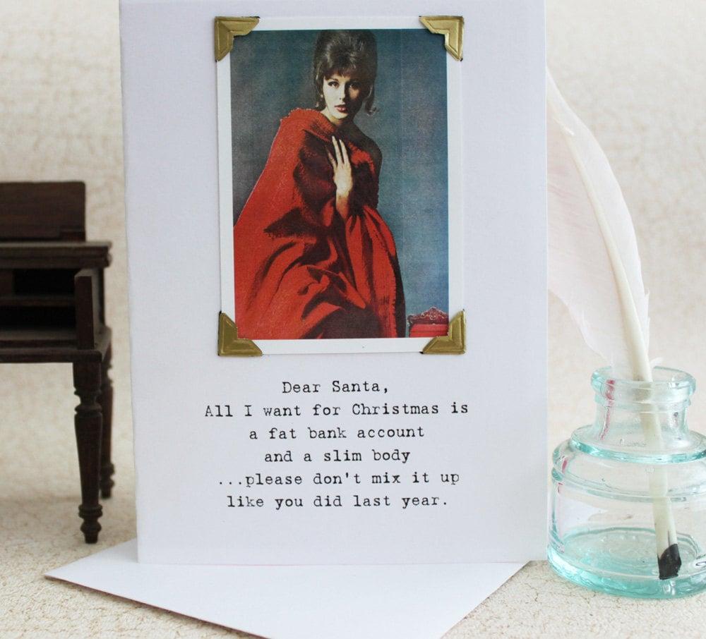 Funny Christmas Card Dear Santa Don't Mix It Up A Sassy