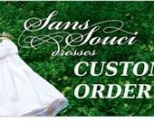 CUSTOM ORDER for Danielle Townley - Flower Girl Dress (DEPOSIT)