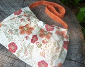 Orange floral pleated Buttercup bag
