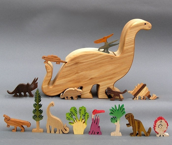 Dinosaur Story Box Wooden Toy for Jurassic Park by ArksAndAnimals