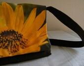 Corduroy Floral Messenger Bag