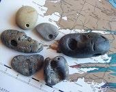 Drilled Beach Stones from Ireland