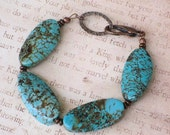 Twisted Sister Turquoise Bracelet