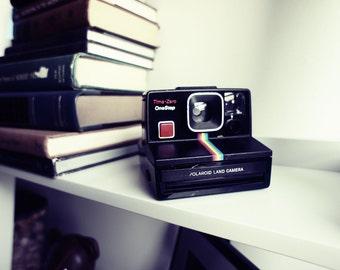 Polaroid Camera SX-70 Rainbow OneStep Time-Zero - Film Tested Working
