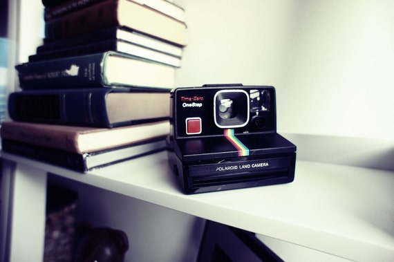 Polaroid Camera SX-70 Rainbow OneStep Time-Zero - Film Tested Working