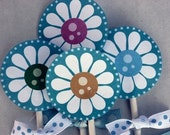 Lazy Daisy Cup cake topper