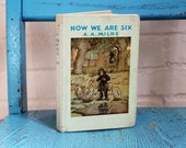 """Antique A.A. Milne Book: """"Now We Are Six"""""""
