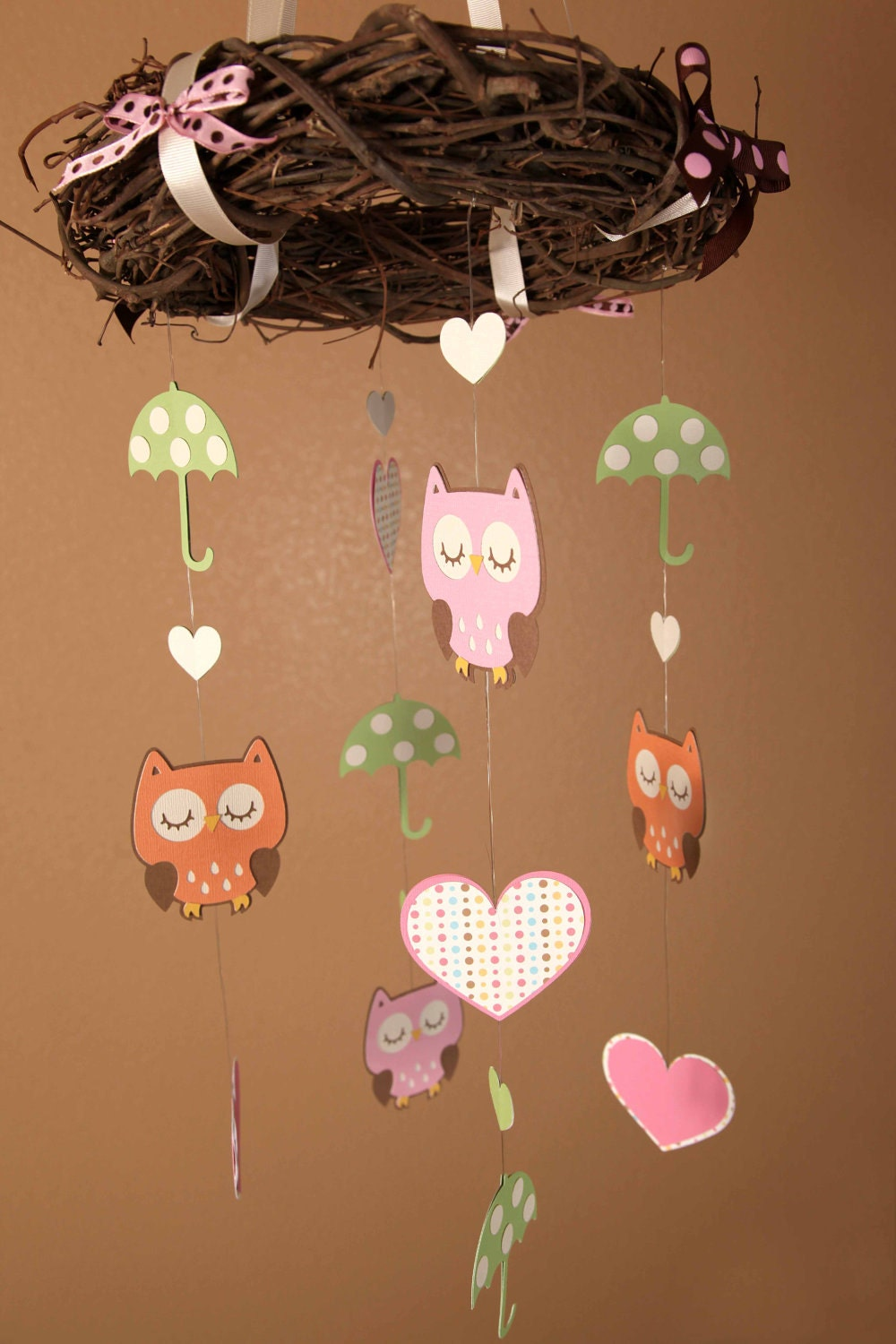 Mobile Owl Themed Beautiful Birthday Or Baby Shower Mobile