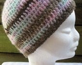 Crochet Beanie - 'Pastel Pleasures'