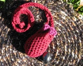 Crochet Crystal Pouch 'Ritual Red' - Reserved for aki YSKW